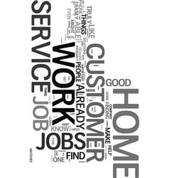 Work from home customer service text word cloud vector
