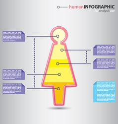Human woman infographic vector