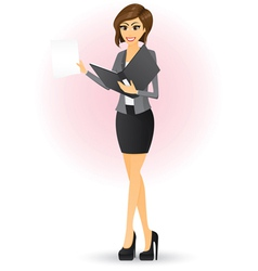 office girl vector image