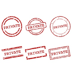 Private stamps vector