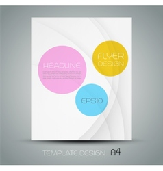 Trendy brochure design in white background vector