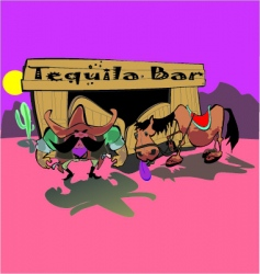 Cowboys tequila bar vector