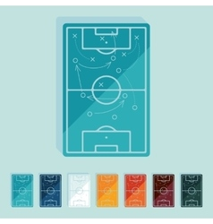 Flat design playing field vector