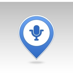 Microphone pin map icon map pointer markers vector
