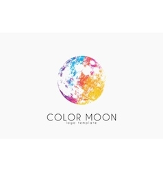 Moon logo design color moon cosmic logo space vector