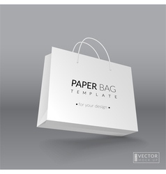 Realistic paper bag template vector