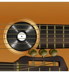 Acoustic guitar close-up vector