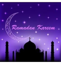 Ramadan kareem islamic background vector