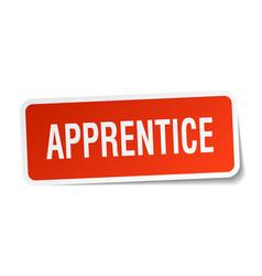 Apprentice square sticker on white vector