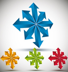 Arrows 3d icon vector