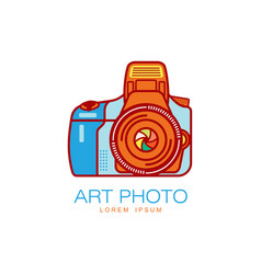 art photo camera icon isolated vector image vector image