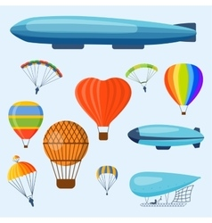 Ballon aerostat transport set vector image vector image