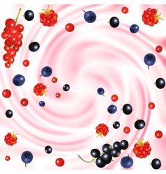 Berries cream vector