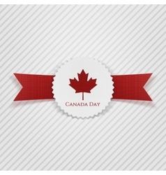 Canada day greeting realistic tag vector