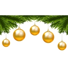 Christmas isolated branch vector image vector image