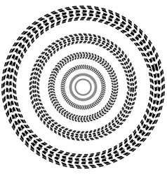 Circle tire track background vector