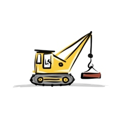 Crane construction equipment for your design vector
