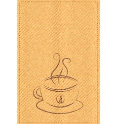 cup of coffee on a background texture vector image