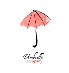 Design element pink umbrella vector
