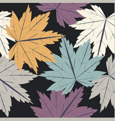 endless pattern with autumn leaves vector image