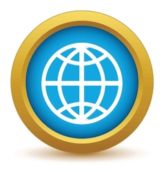 Gold world icon vector image vector image