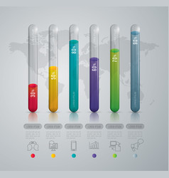 graph design with 6 options vector image vector image