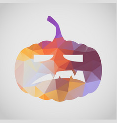 halloween card with angry pumpkin of triangle vector image vector image