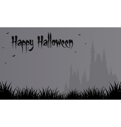 Halloween gray backgrounds big castle vector