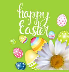 happy easter spring holiday background vector image vector image