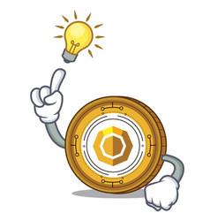 Have an idea komodo coin mascot cartoon vector