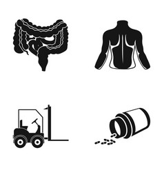 Internal organs human back and other web icon in vector
