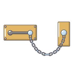 Lock snap icon cartoon style vector