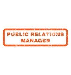 Public relations manager rubber stamp vector