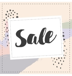 Sale banner graphic style pastel coloe brush vector