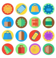 Set of labels for clothing vector image vector image