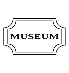 Sign museum icon outline style vector image vector image