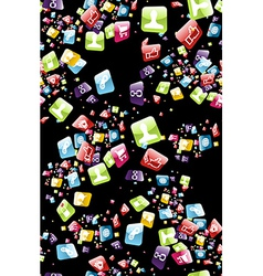 Smart phone apps pattern vector image vector image