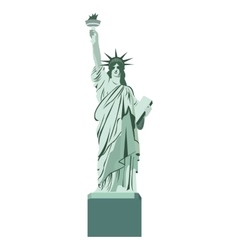 Statue liberty monument isolated vector
