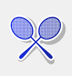 Tennis racquets sign new year bluish icon vector