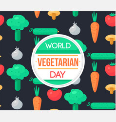 world vegetarian day vector image vector image