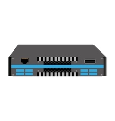 Rack network device isolated icon vector
