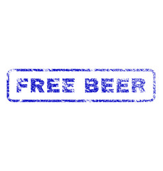 Free beer rubber stamp vector