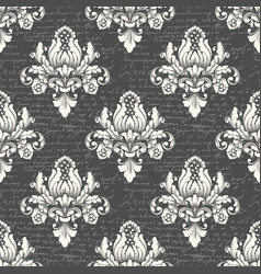 damask seamless pattern background with ancient vector image