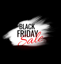 Black friday background with white paint stroke vector