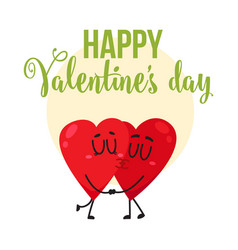 valentine day greeting card design with two vector image
