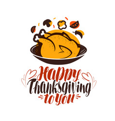 Happy thanksgiving to you greeting card vector