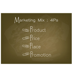 4ps marketing mix model with price product promo vector