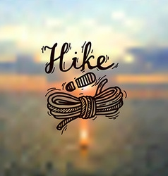 Hike logo vector