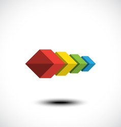Cubes icon vector