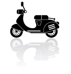 Scooter silhouette icon vector